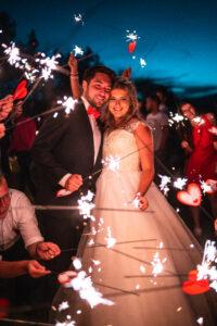 Prskavky na svatbě