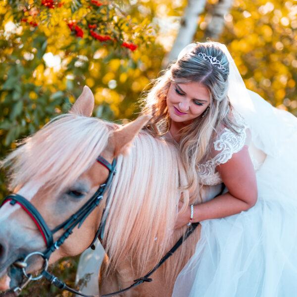 Svatební projížďka na koních