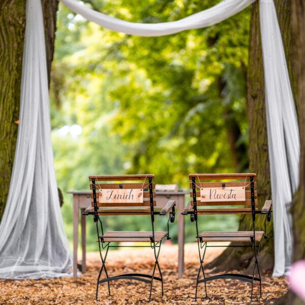 Svatební obřad - oltář